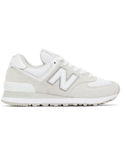 New Balance ホワイト & グレー 574 スニーカー White
