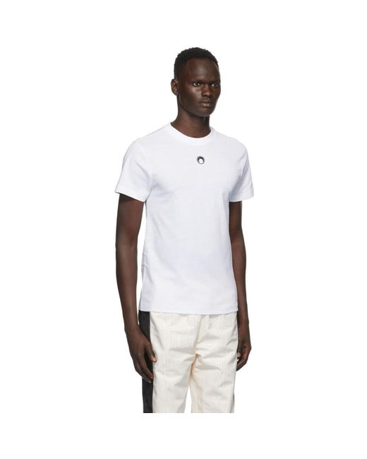 メンズ MARINE SERRE ホワイト ムーン T シャツ White