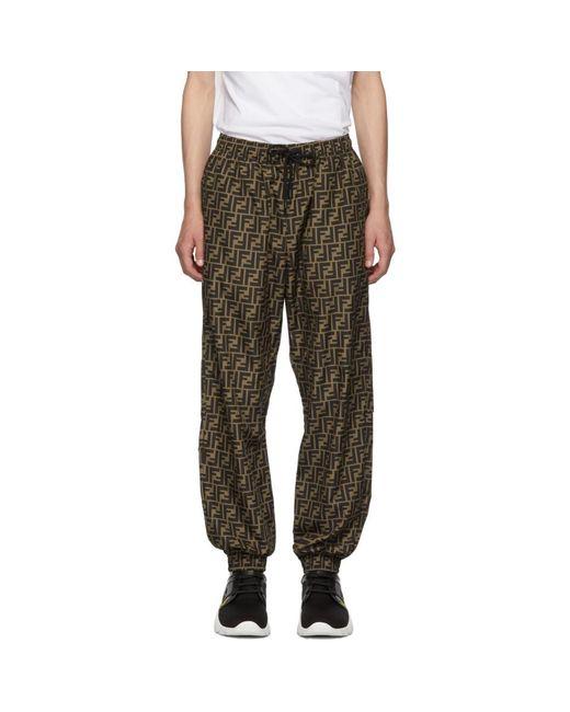 Fendi Multicolor Brown Forever Lounge Pants for men