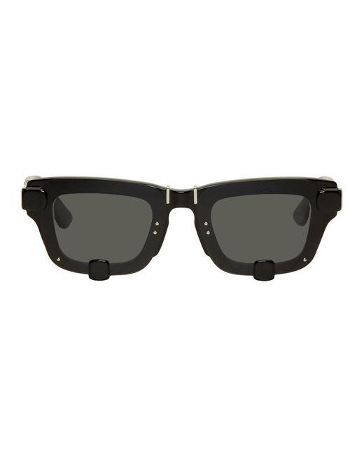 メンズ Y. Project Linda Farrow Edition ブラック 4 Dフレーム サングラス Black