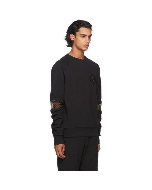 メンズ Fendi ブラック Forever ディテール スウェットシャツ Black