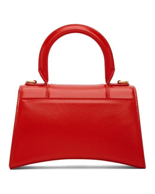 Balenciaga レッド Xs Hourglass バッグ Red