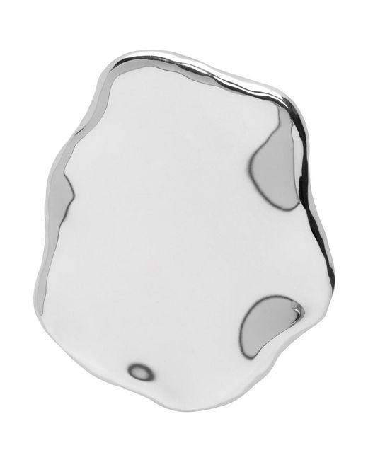 All_blues - Metallic Silver Chicken Egg White Earring - Lyst