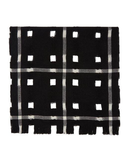 Yohji Yamamoto ブラック ウール マフラー Black