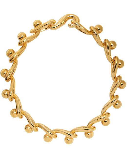 Loewe ゴールド Drop Chain ネックレス Metallic