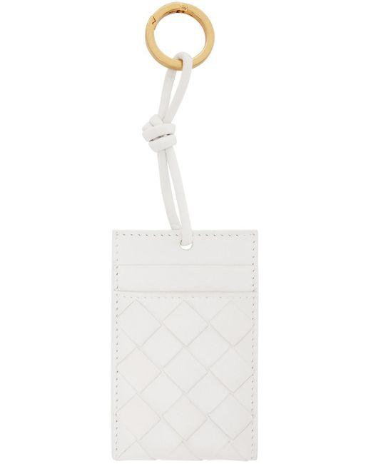 Bottega Veneta ホワイト イントレチャート カード ケース White