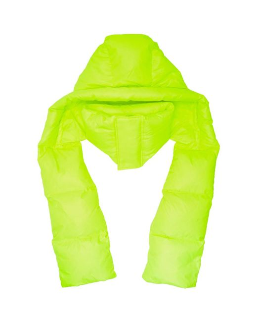 Juun.J - Yellow Hooded Down Scarf for Men - Lyst