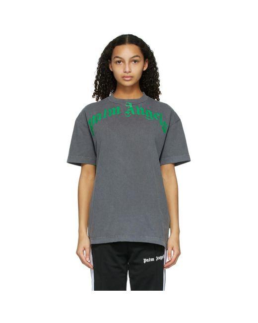 Palm Angels ブラック And グリーン Vintage T シャツ Multicolor