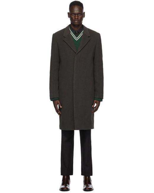 メンズ Maison Margiela グレー ウール コート Gray