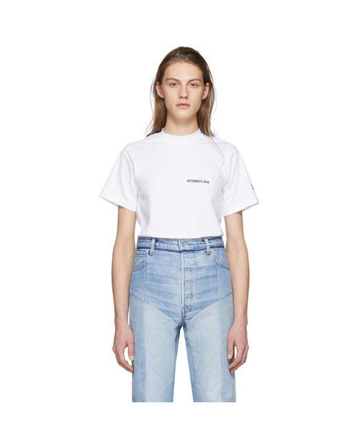 Vetements | White Calendar Open Back T-shirt | Lyst