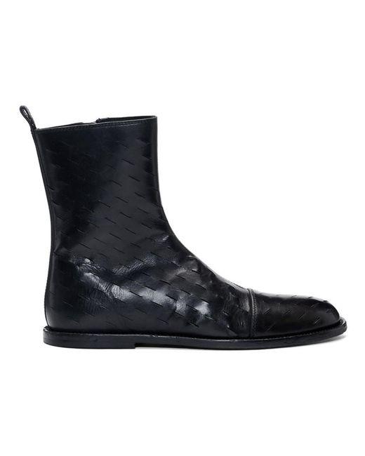 Ann Demeulemeester Black Slits Zip-up Boots for men
