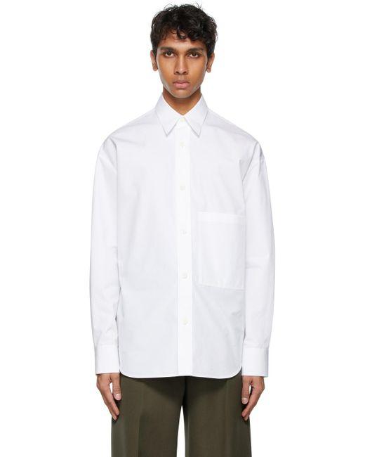メンズ Valentino ホワイト シャツ White