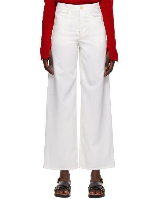 Marni ホワイト 5 Pocket トラウザーズ White
