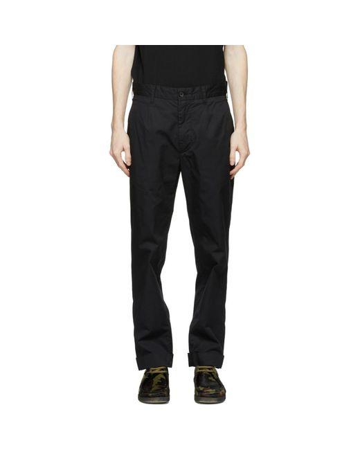 メンズ Engineered Garments ブラック Andover トラウザーズ Black