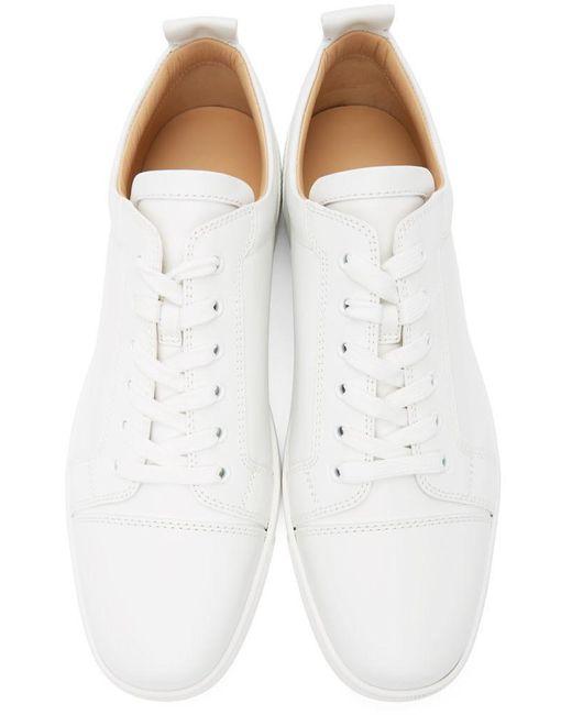 メンズ Christian Louboutin ホワイト Louis Junior スニーカー White