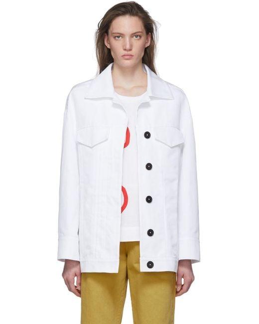 Marni ホワイト 2 ポケット ジャケット White