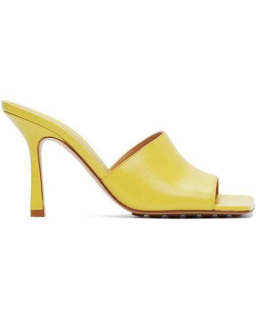 Bottega Veneta イエロー ストレッチ ヒール サンダル Yellow