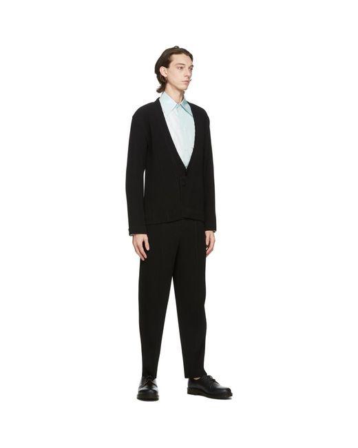 メンズ Homme Plissé Issey Miyake ブラック Tuxedo Pleats トラウザーズ Black