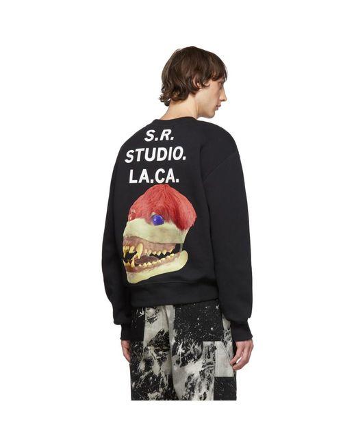 メンズ S.R. STUDIO. LA. CA. ブラック Edition 50 スカル スウェットシャツ Black