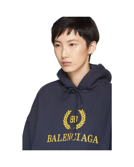 Very Cheap Online Buy Cheap 100% Guaranteed Navy BB Crown Logo Hoodie Balenciaga Huge Surprise nyd4Wx