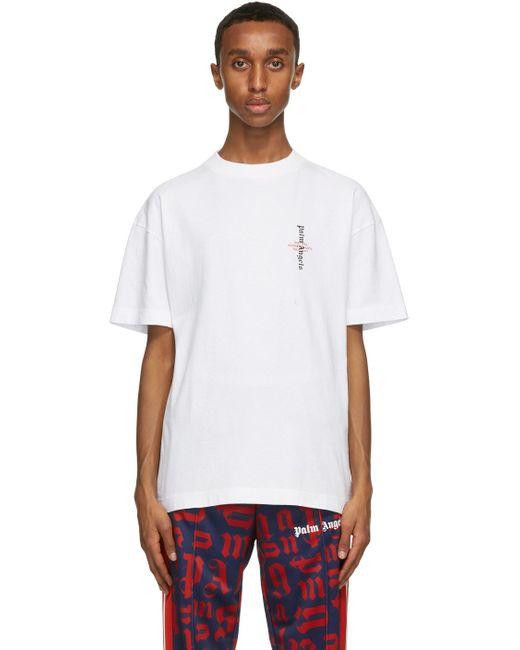 メンズ Palm Angels ホワイト Statement T シャツ White