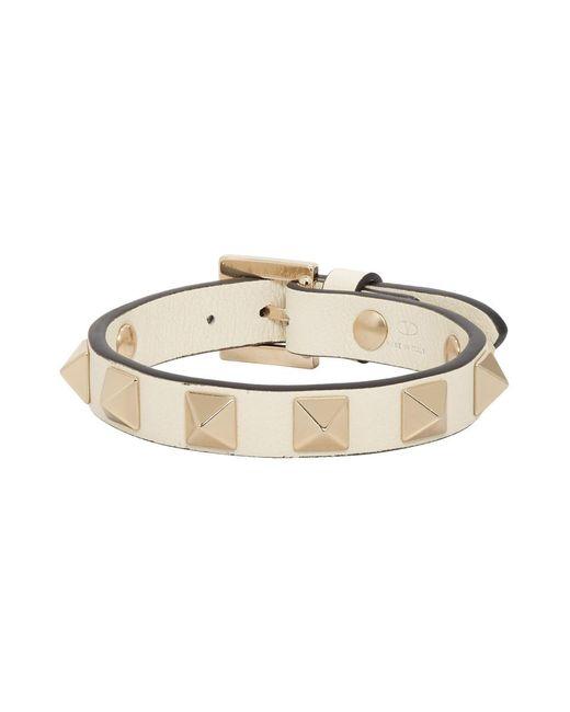 Valentino Multicolor Off-white Garavani Rockstud Bracelet