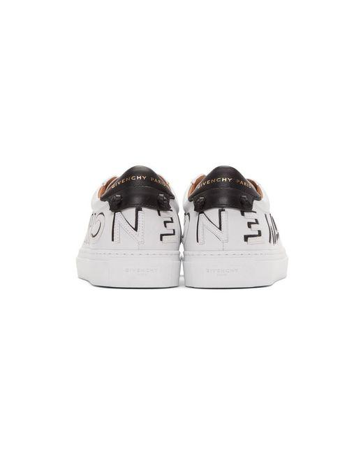 メンズ Givenchy ホワイト And ブラック リバース アーバン ストリート スニーカー White