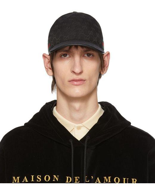 メンズ Gucci 【公式】 (グッチ)オリジナルGGキャンバス ベースボール キャップブラック GGキャンバスブラック Black