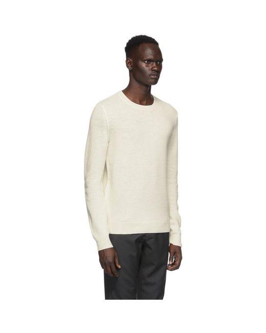 メンズ A.P.C. オフホワイト ウール キット セーター White