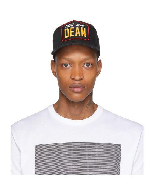 メンズ DSquared² ブラック Dan Im Not Dean ベースボール キャップ Black