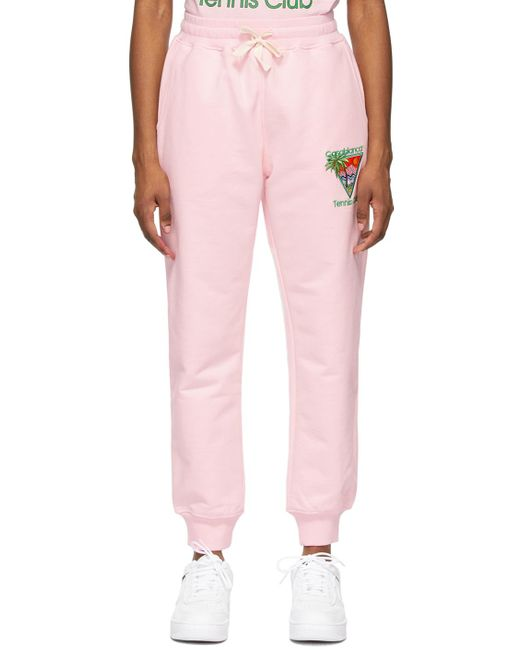 CASABLANCA ピンク Tennis Club ラウンジ パンツ Pink