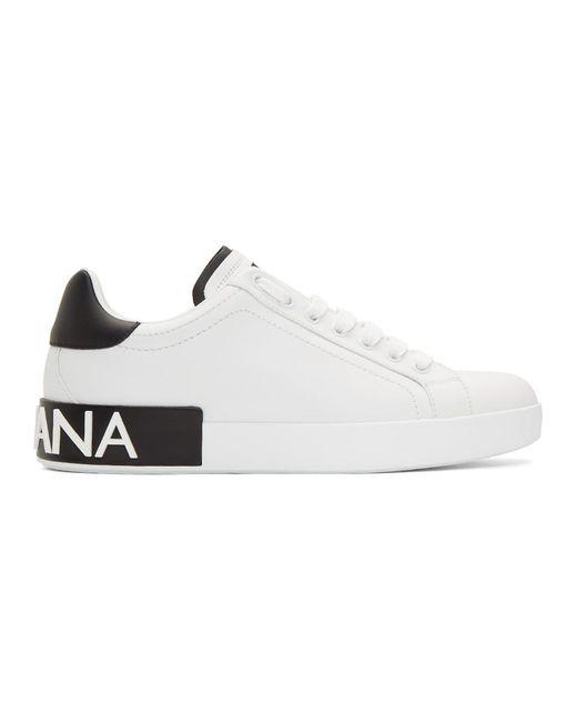 メンズ Dolce & Gabbana ホワイト テニス スニーカー White