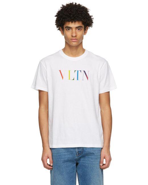 メンズ Valentino ホワイト Vltn T シャツ White