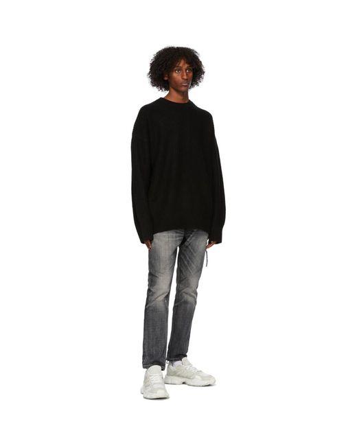 メンズ MASTERMIND WORLD ブラック カシミア Needle Punch セーター Black