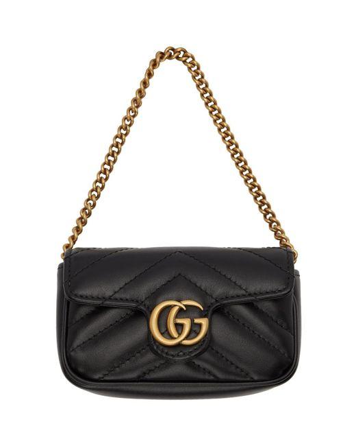 Gucci ブラック GG マーモント カード ホルダー Black