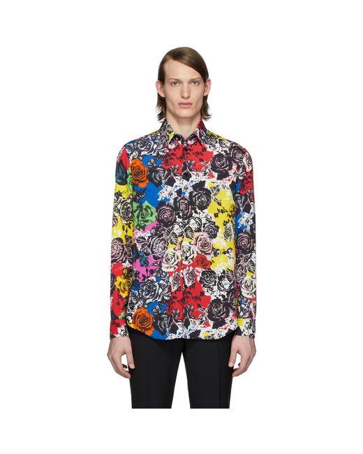 メンズ Versace マルチカラー フラワー シャツ Multicolor