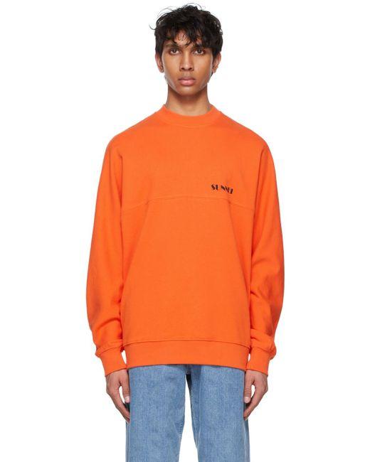 メンズ Sunnei オレンジ スウェットシャツ Orange