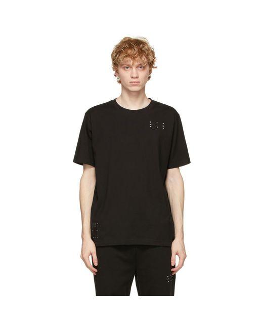 メンズ McQ Alexander McQueen No.0 コレクション ブラック Relaxed ロゴ T シャツ Black