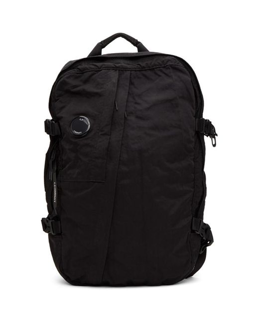 メンズ C P Company ブラック ナイロン ミッド バックパック Black