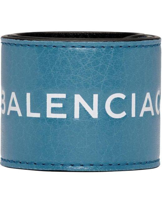 Balenciaga   Blue Cycle Logo Bracelet   Lyst