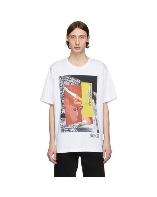 メンズ Versace Jeans Rosa Burgess Edition ホワイト Crisis プリント T シャツ White