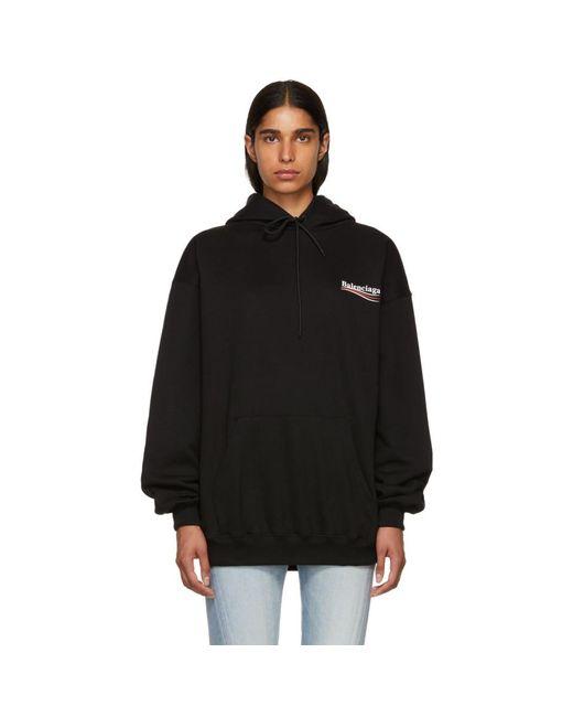 Balenciaga - Black Campaign Hoodie - Lyst