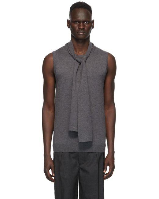 メンズ Maison Margiela グレー ゲージ 12 スカーフ ベスト Gray