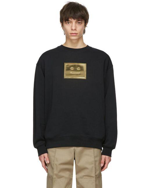 メンズ Acne ブラック スウェットシャツ Black