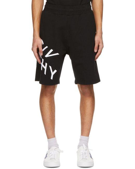 メンズ Givenchy ブラック Refracted ロゴ ショーツ Black