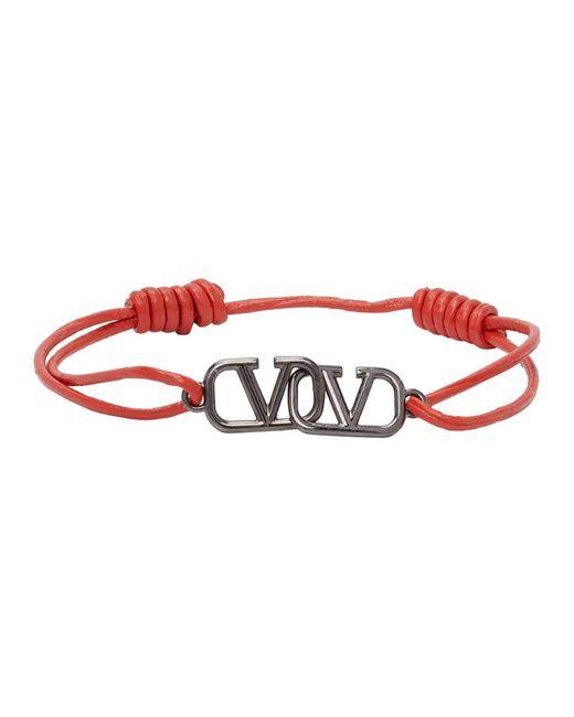 メンズ Valentino Garavani コレクション オレンジ Vlogo ブレスレット Red