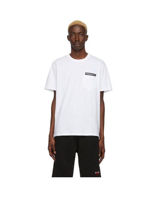 メンズ Givenchy ホワイト Fused Tape T シャツ White