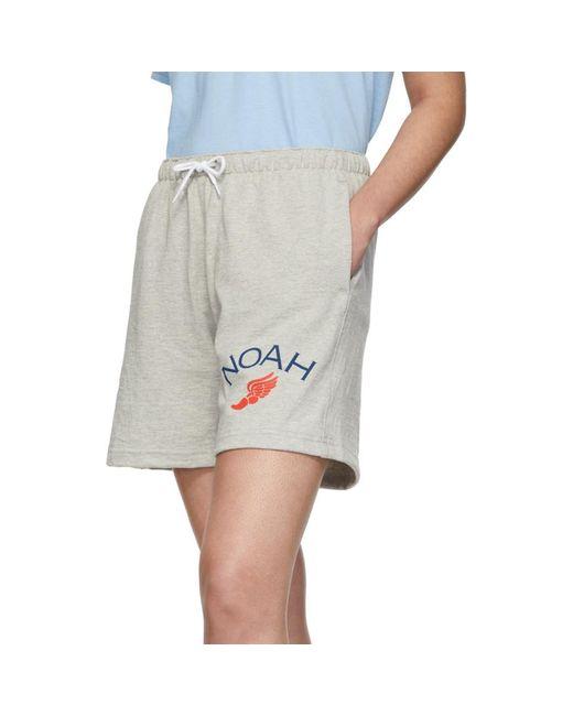 Noah Women's Grey Rugby Cloth Shorts