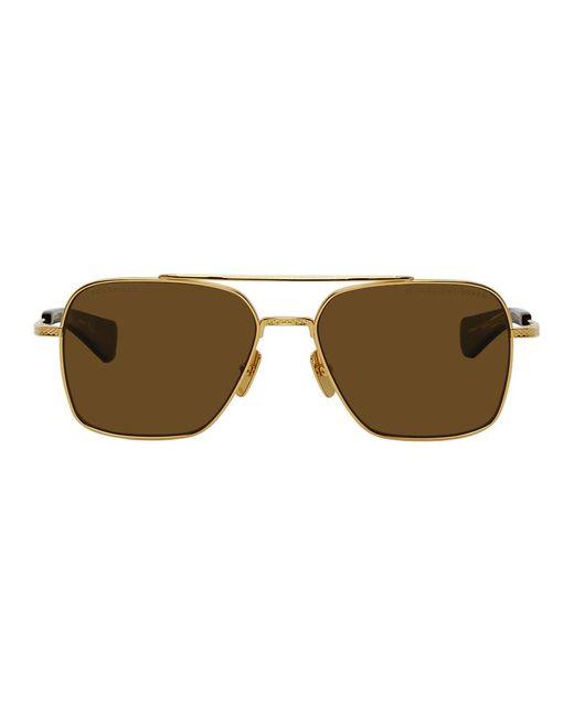 メンズ Dita Eyewear ゴールド And ブラウン Flight-seven サングラス Brown