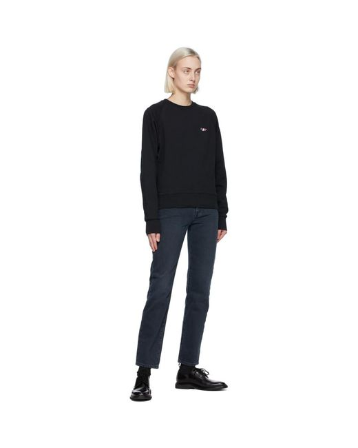 Maison Kitsuné ブラック Tricolor Fox スウェットシャツ Black